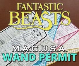 M.A.C.U.S.A. Wand Permit Application