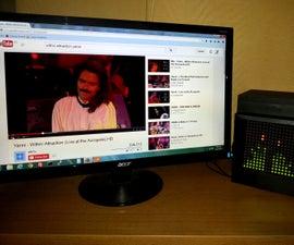 Arduino based Bi-color LED Matrix Audio Spectrum Visualizer