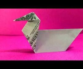 Origami Dollar Bill Duck