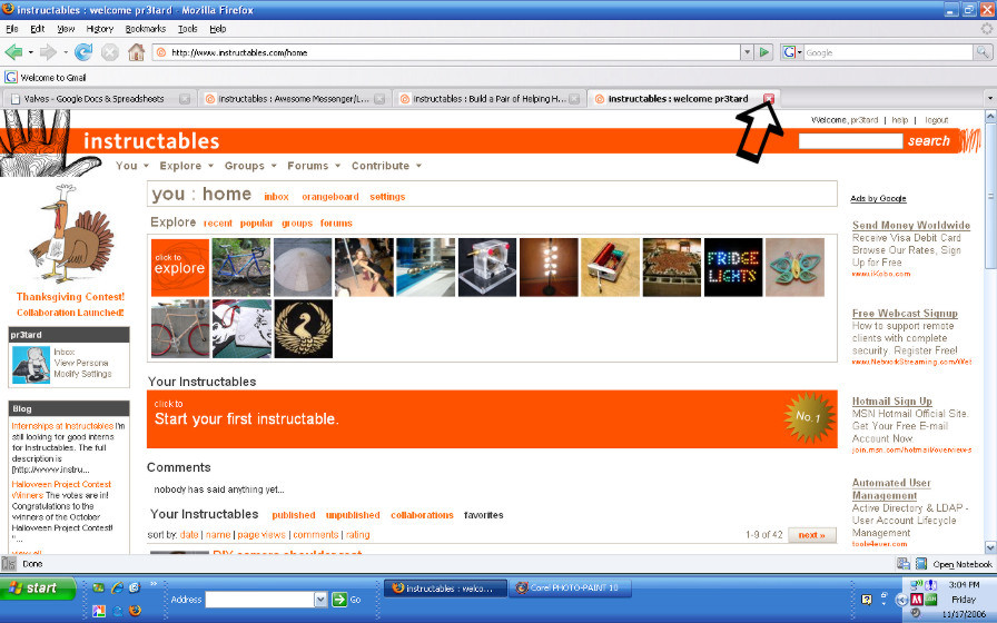 Picture of Close Browser Tab 1