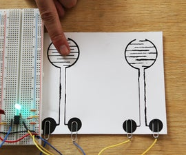 Making a Touch Sensitive On/Off Circuit with Bare Paint and a 555 Timer IC