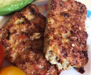 Organic Cauliflower, Onion & Bacon Squares