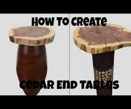 How to Make a Live Edge Slab End Table
