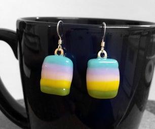 DIY Fused Glass Earrings in Microwave Oven