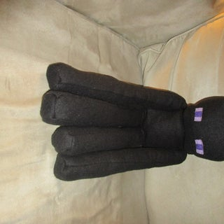 Make an Enderman Plushie From Minecraft