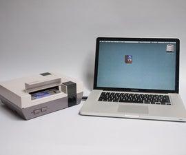 NES flash drive and USB port