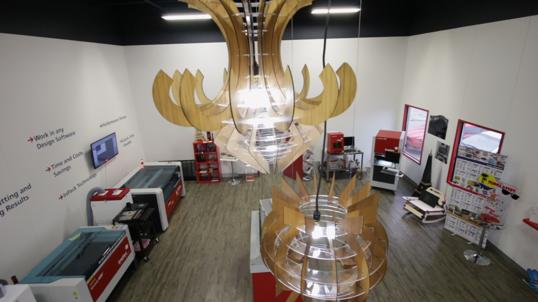 Picture of Acrylic & Wooden Chandeliers