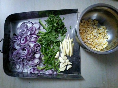 Chopping of the Vegetables