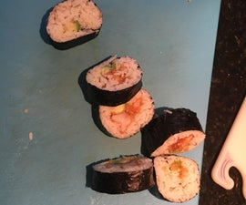 Avocado Shrimp Tempura Sushi