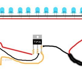 Sound reactive led box