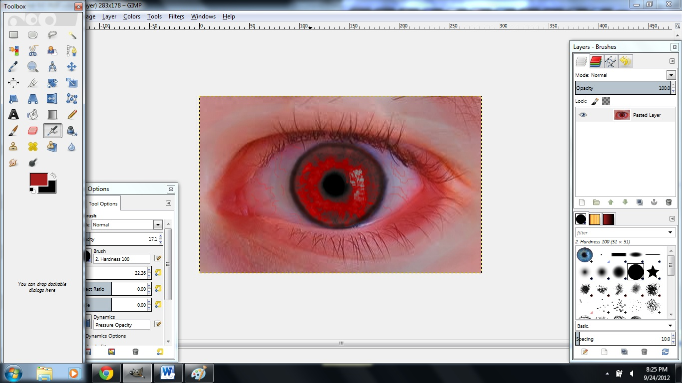 Picture of Making a Creepy Eye in Gimp