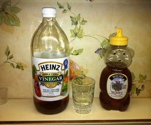 Apple Cider Vinegar Sore Throat Rinse