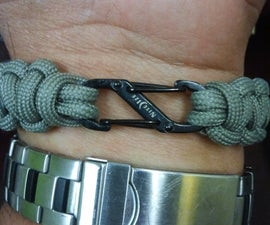 Replace bulky buckle on paracord bracelet.