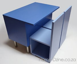DIY KIDS STORAGE TABLE AND CHAIRS