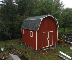 12'x16' Mini-Barn/Shed With Gambrel Roof