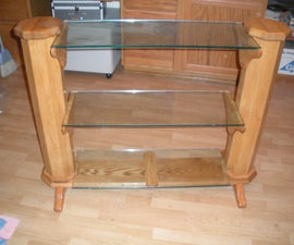 Glass and Oak Bookshelf