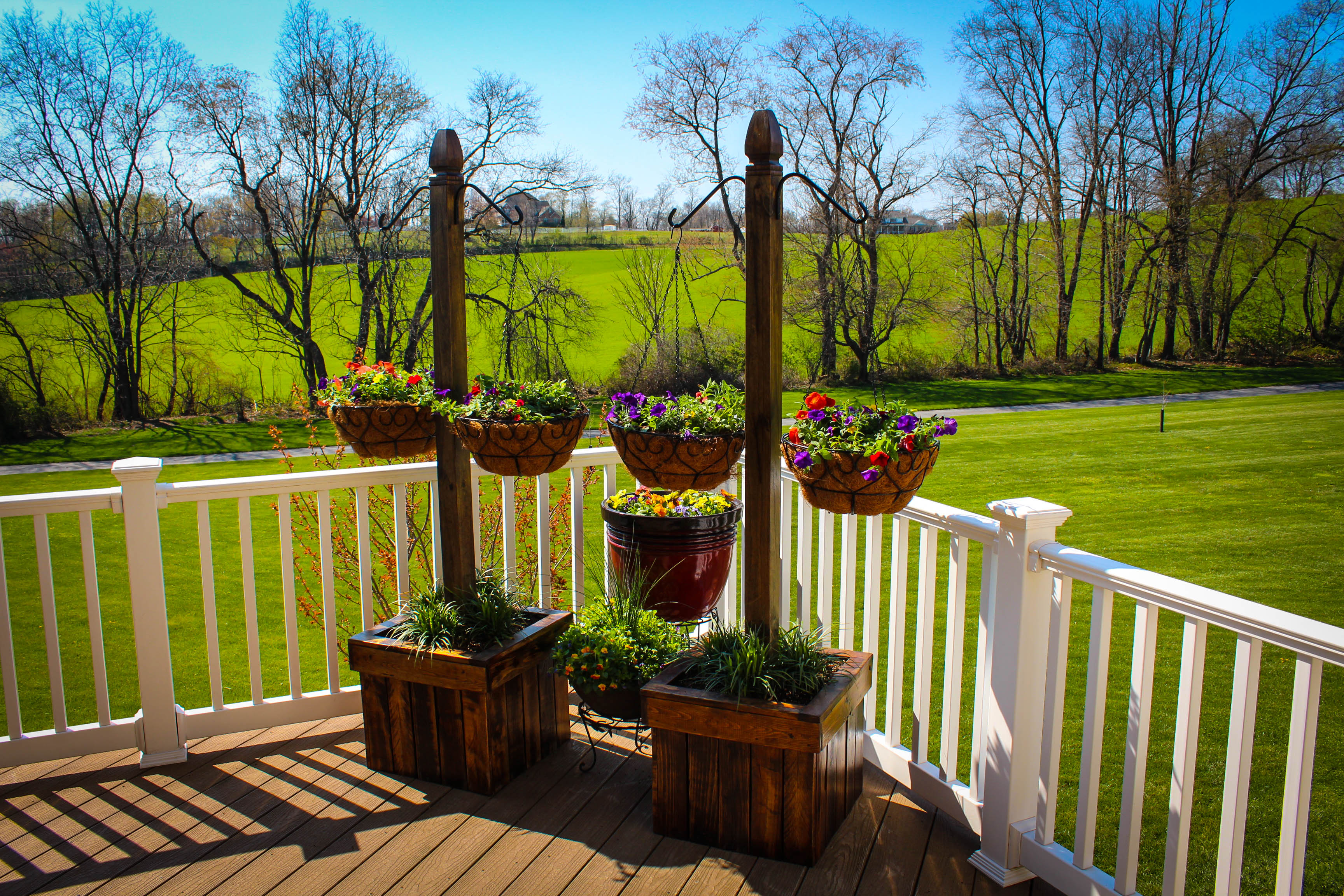 Picture of Hanging Basket Column