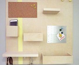 Modern Wall Organizer DIY