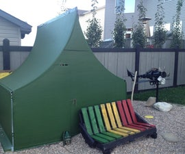 Army Tent Made From Half Pipe