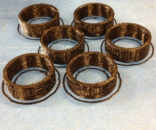 6 Custom Rings Small Production Run Completed in 40 Minutes