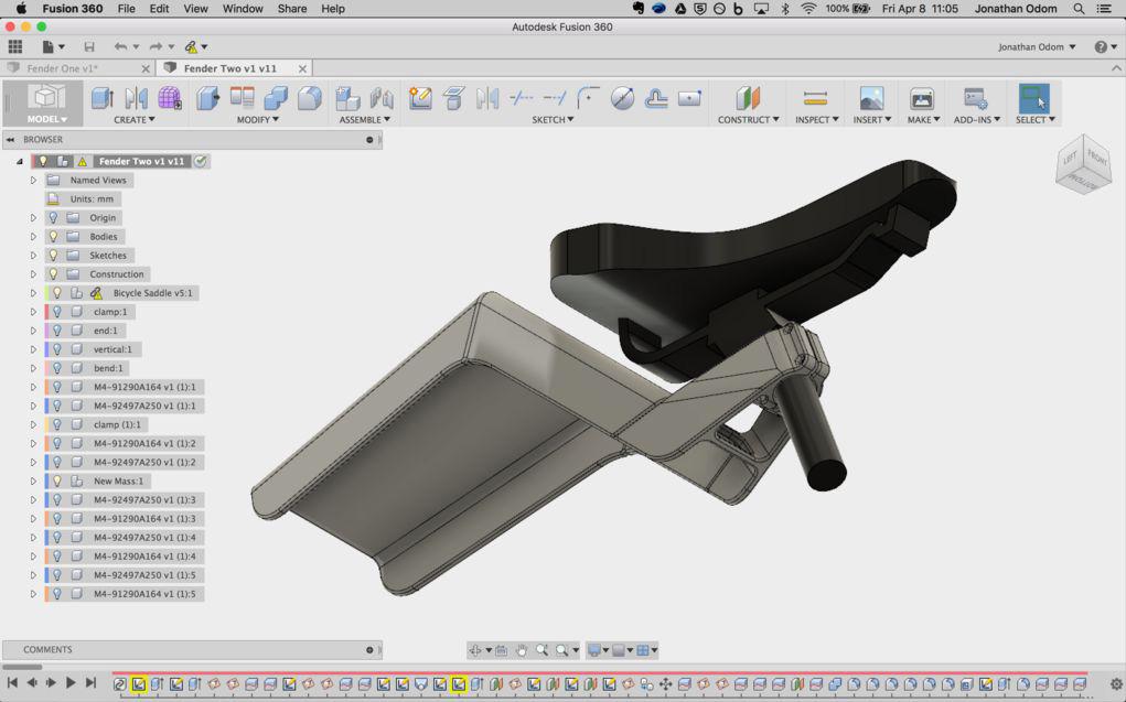 Bike Fender Part 2: Using Parameters