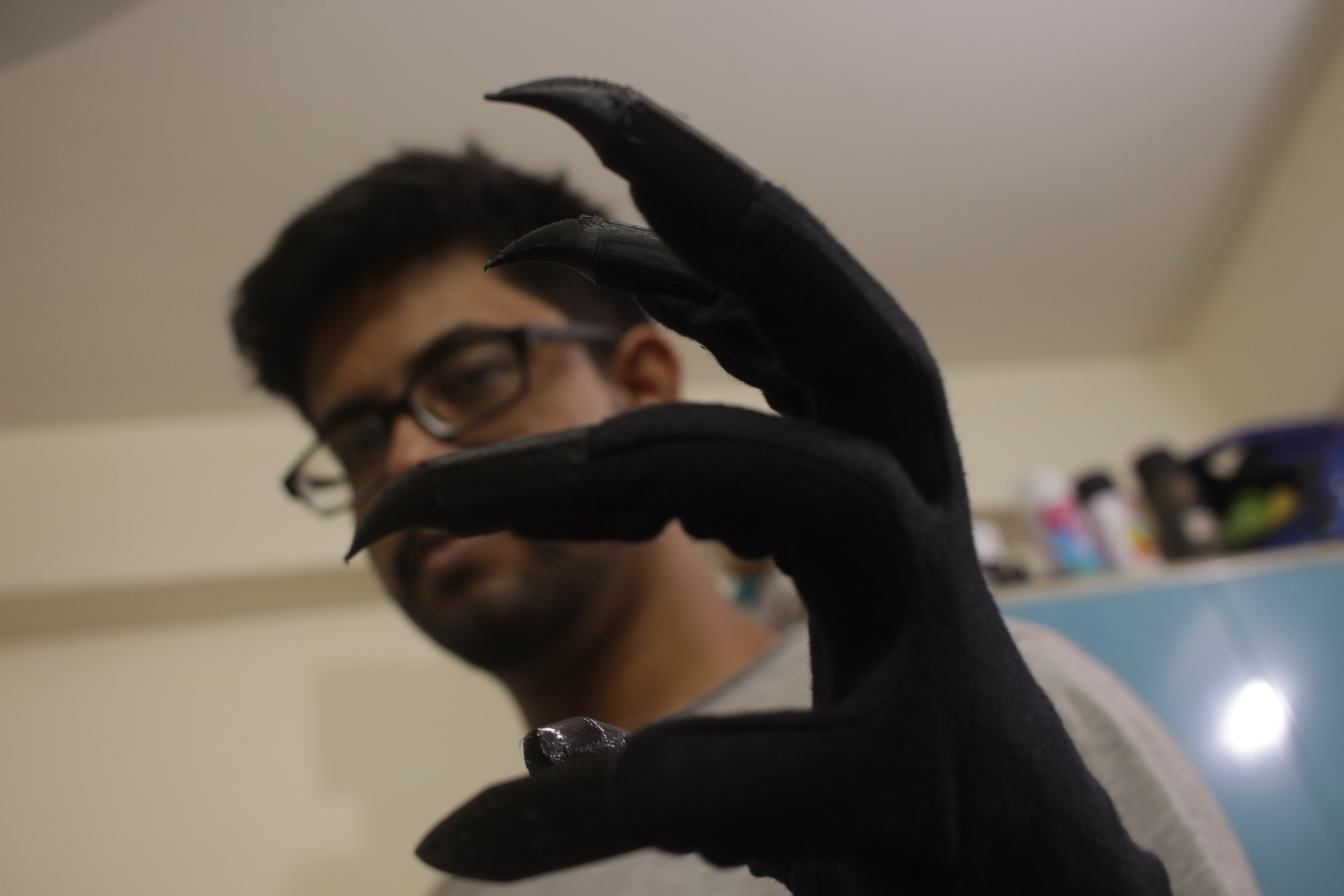 Picture of 5$ 3D Printed Black Panther Claws