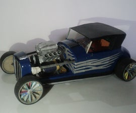 Homemade Hot Rod Vintage Car Model