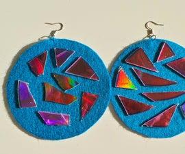 DIY Jewelry: Hologram & Felt Earrings