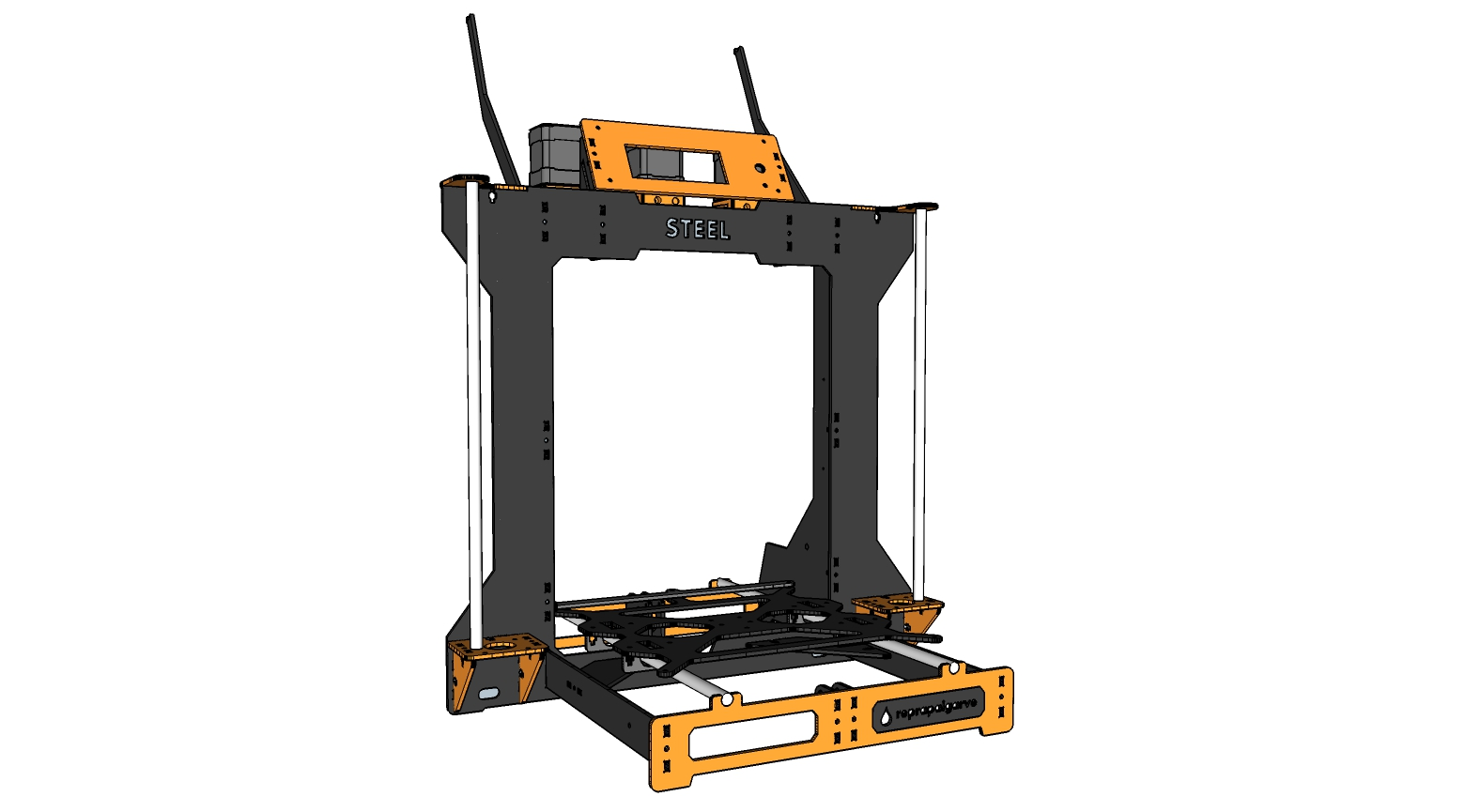 Picture of RGB STEEL - Low Cost, Steel Frame, Color Mixing 3D Printer