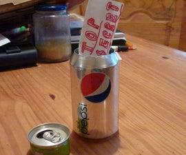 Pop Can Dead Drop: Make a pop can with a hidden, threaded lid.