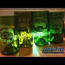 Create a glass out of a wine bottle and how to engrave Jeep Logo.