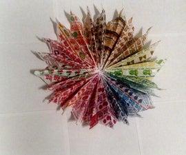 rainbow candy wrapper wall art