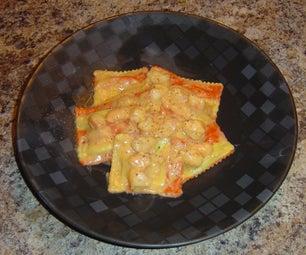 Ravioli With Lobster Cream Sauce