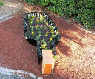 Compact Wine Bottle Garden