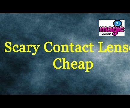 Scary contact lenses cheap
