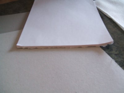 Hot Glue the Top of the Paper
