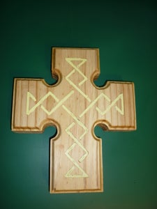 Wooden Cross With Inlay