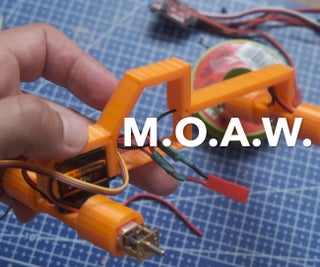 M.O.A.W. 3d Printed RC Crawler