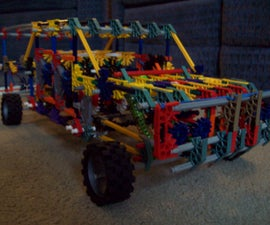 knex baja truck with spring loaded suspension