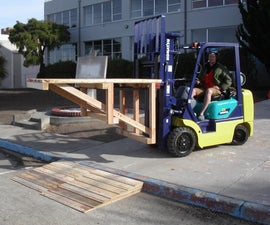 Forklift loading dock and curb ramp