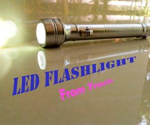 ' LED FLASHLIGHT ' From Trash