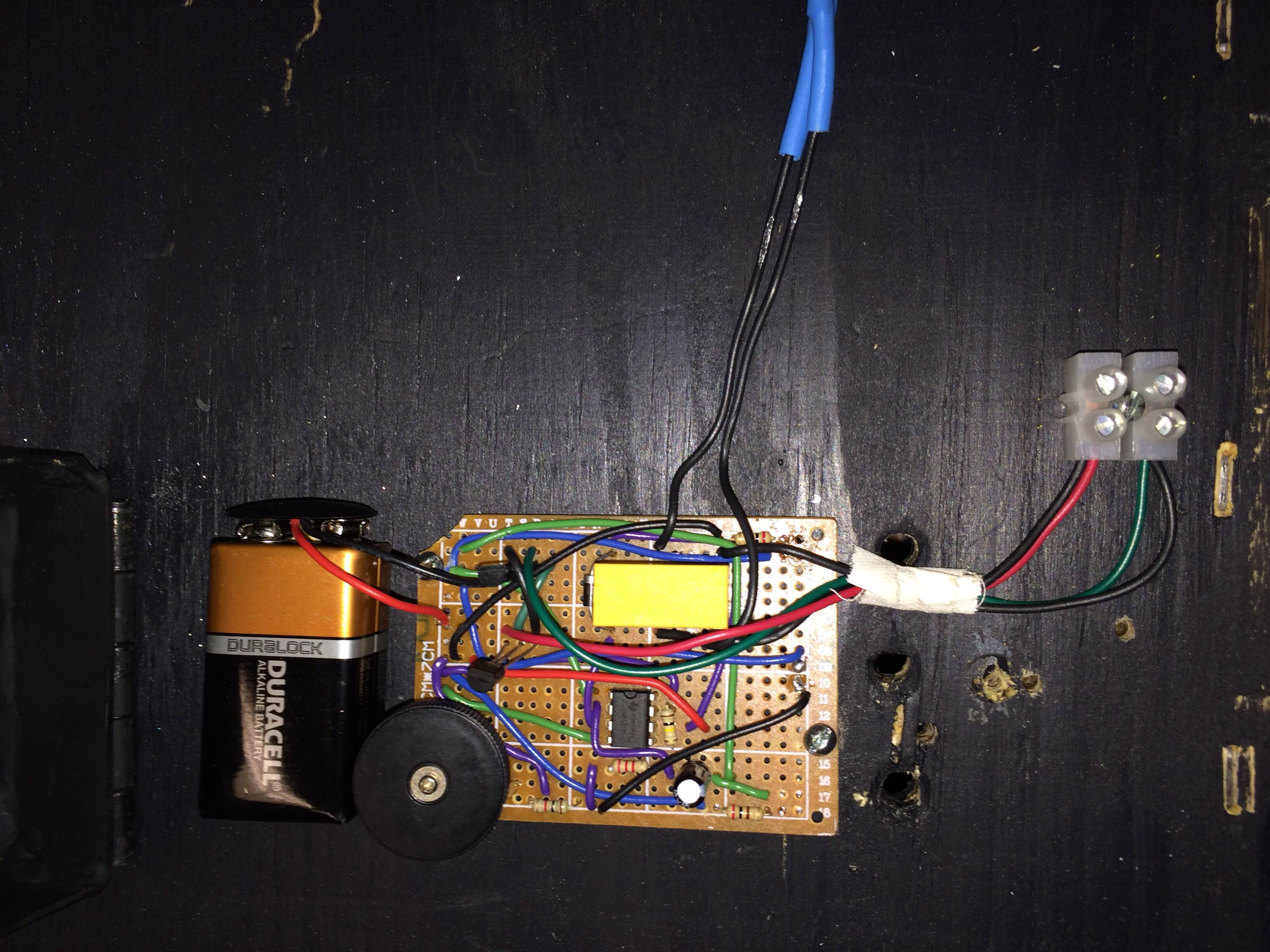 Picture of Attach Board and Circuit Box
