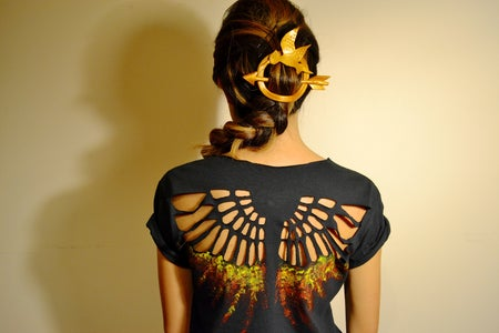How To: Hunger Games Shirt and Hair Pin