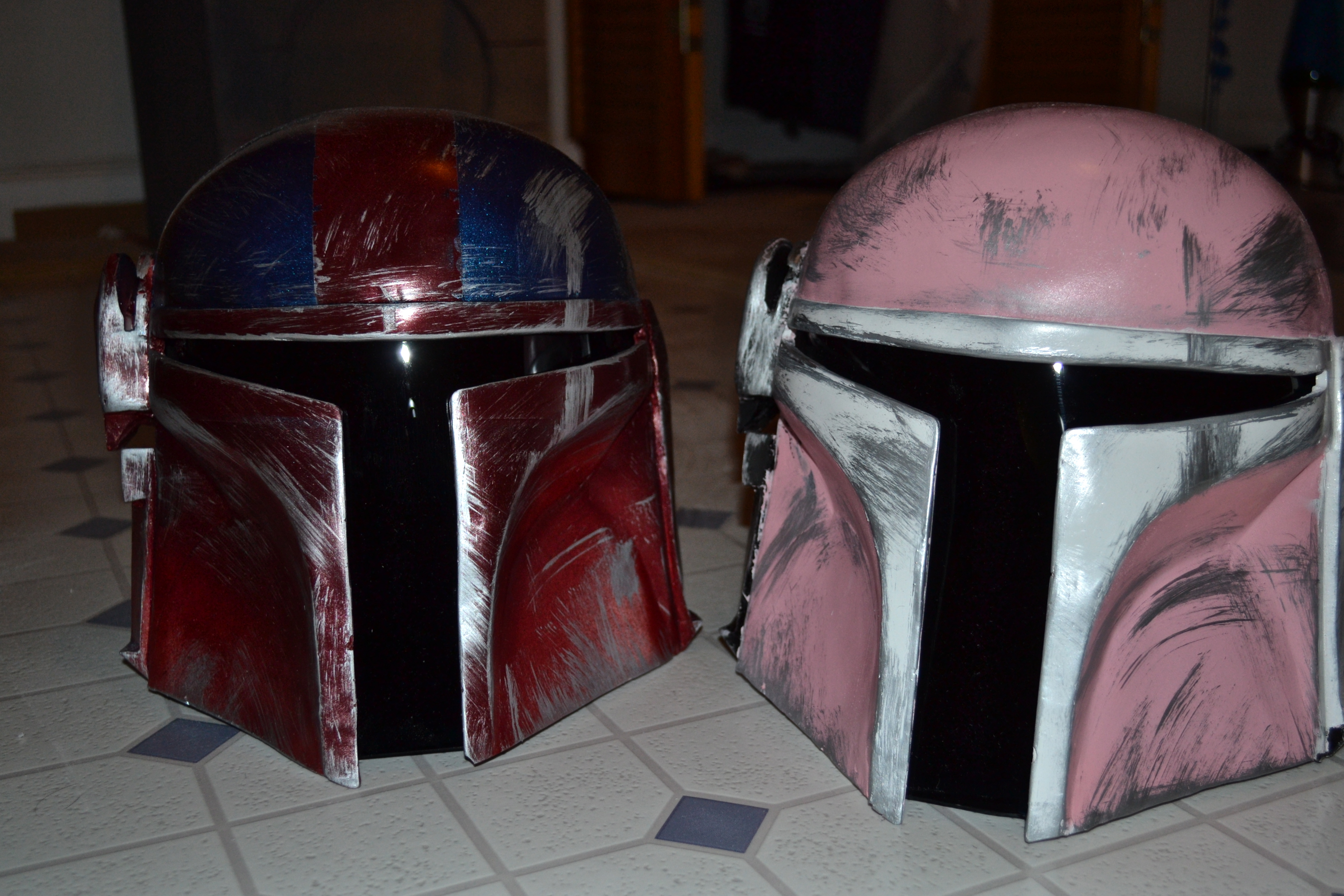 Picture of Star Wars Helmets As Holiday Gifts! (Custom Mandolorian Helmets)