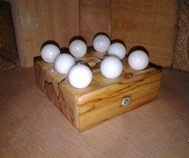 Marbles & Wood Tic-Tac-Toe Set
