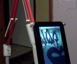 "Zero gravity tablet or ereader floor stand from balanced arm lamp """"""Sugru Update"""""""