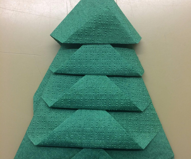 How To Fold Napkin Into Christmas Tree.Folding A Napkin Into A Christmas Tree 11 Steps