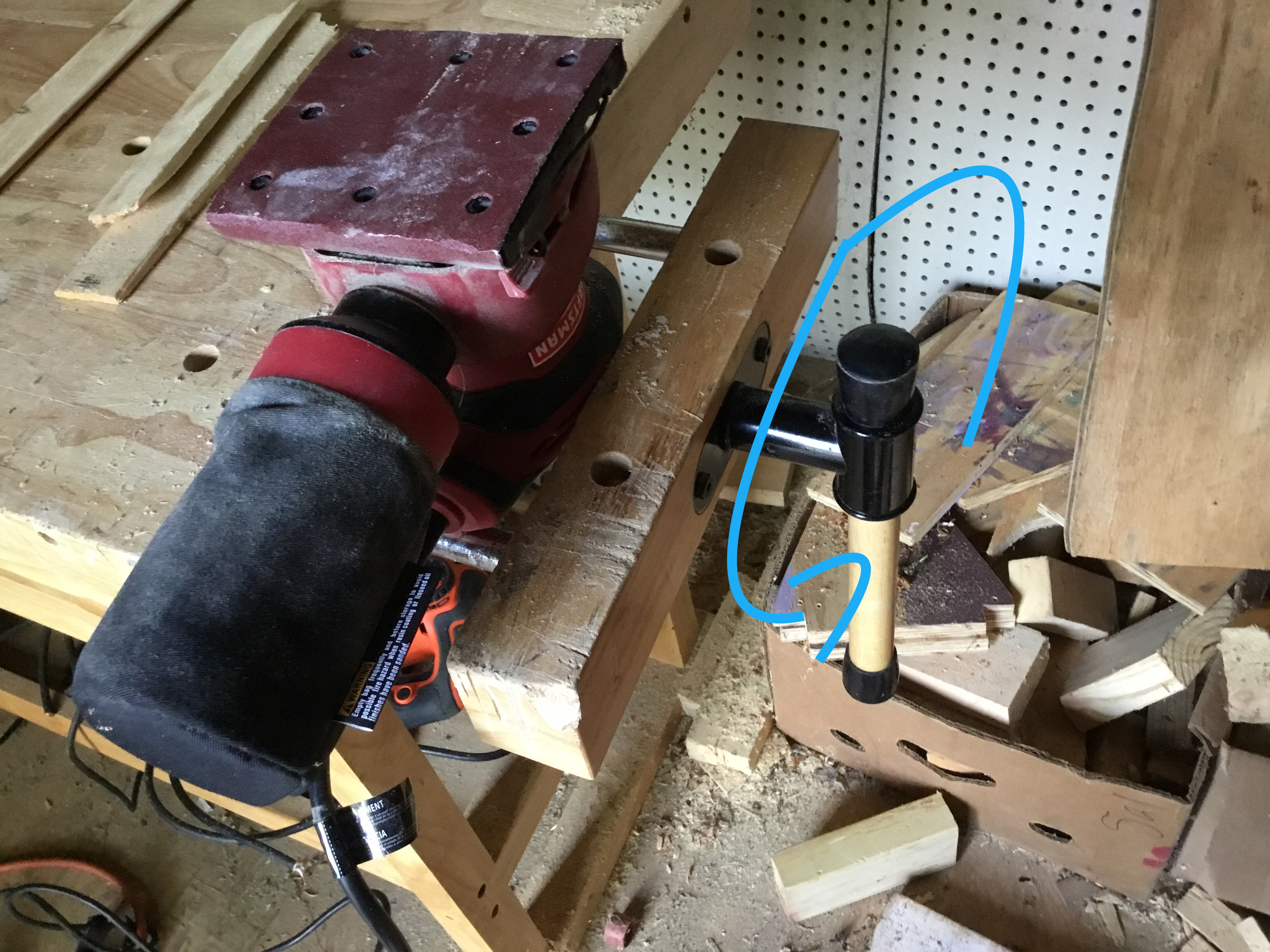 Picture of Easiest Way to Sand Small Pieces of Wood With a Electric Sander