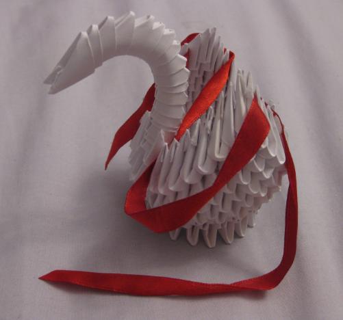 Fresh 3d origami Diamond Swan | Origami swan, Origami diamond ... | 468x501