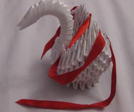 Modular Origami Swan